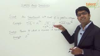Surds and Indices | Quantitative Aptitude | TalentSprint Aptitude Prep | SSC CGL | SSC CHSL | Railways | Insurance Exams | Competitive Exams 2020