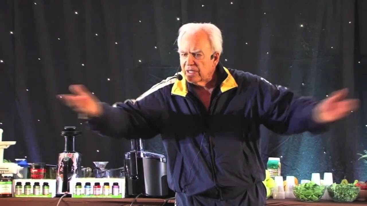 Jay Kordich 'Juice Man' on stage in the UK