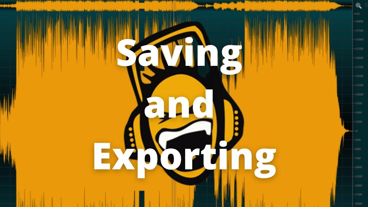 ocenaudio - 13 - Saving and Exporting