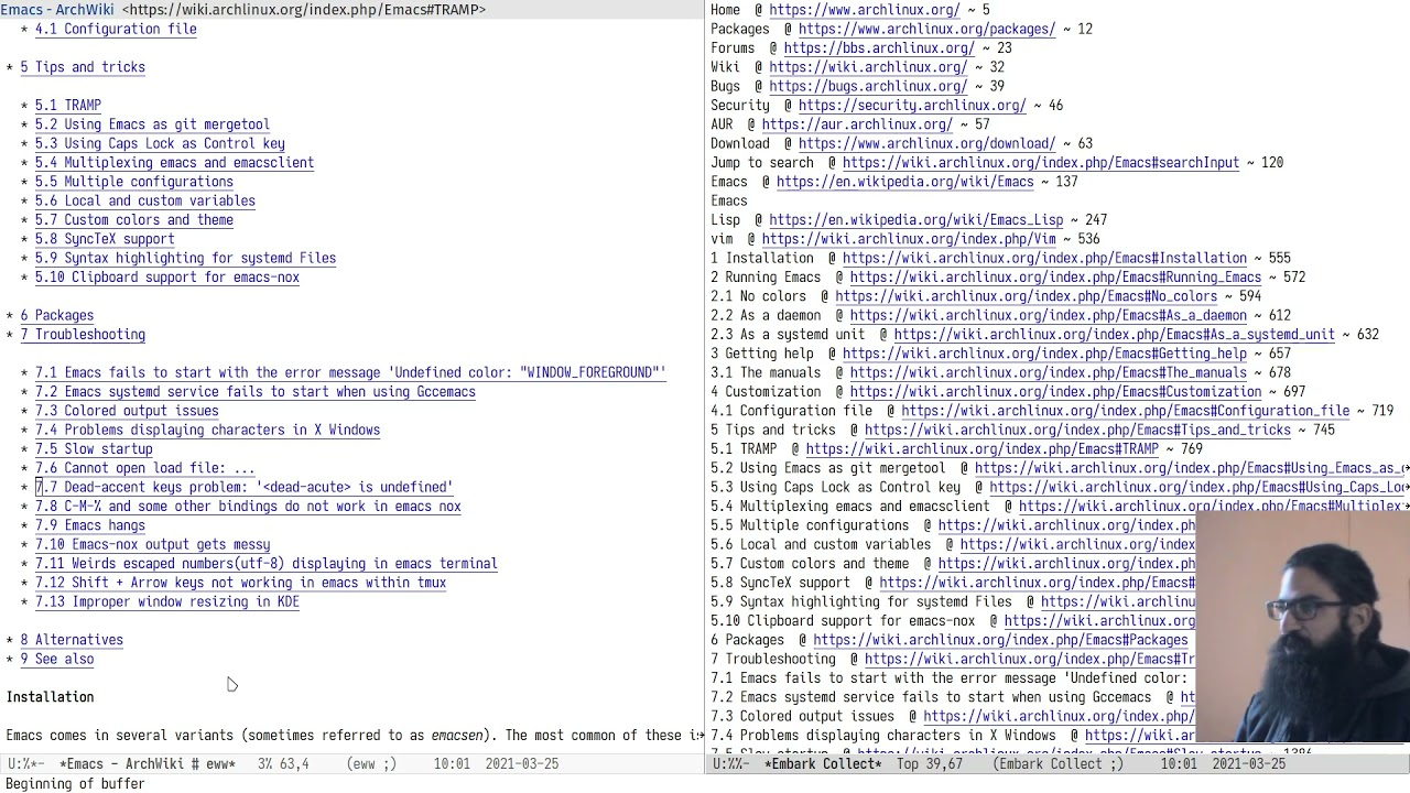Emacs: EWW and my extras (text-based browser)