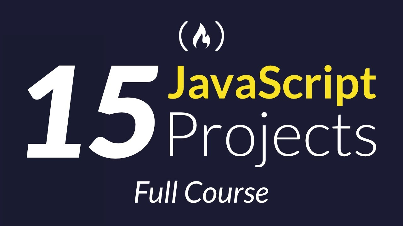 Build 15 JavaScript Projects - Vanilla JavaScript Course