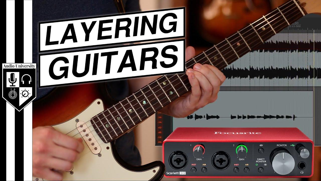 Record Guitar Overdubs [with Focusrite Scarlett 2i2 3rd Gen Audio Interface]