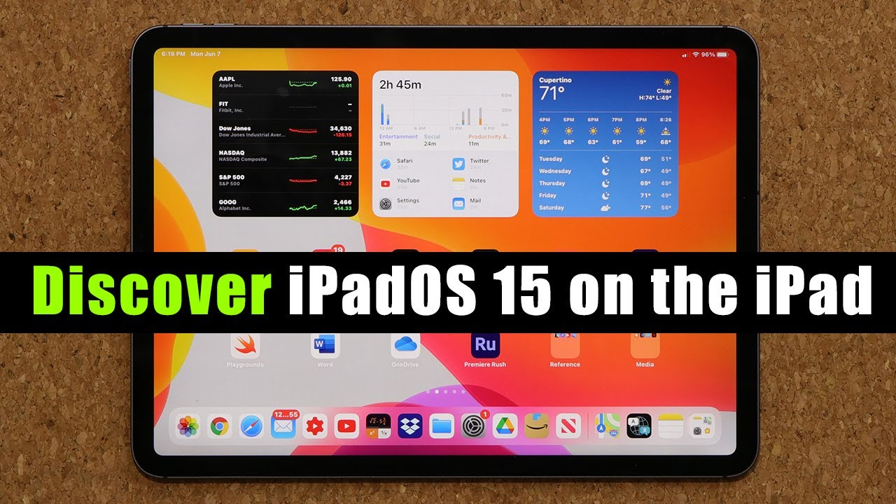 iPadOS (iOS) 15  running on an iPad Pro - Every New Feature!