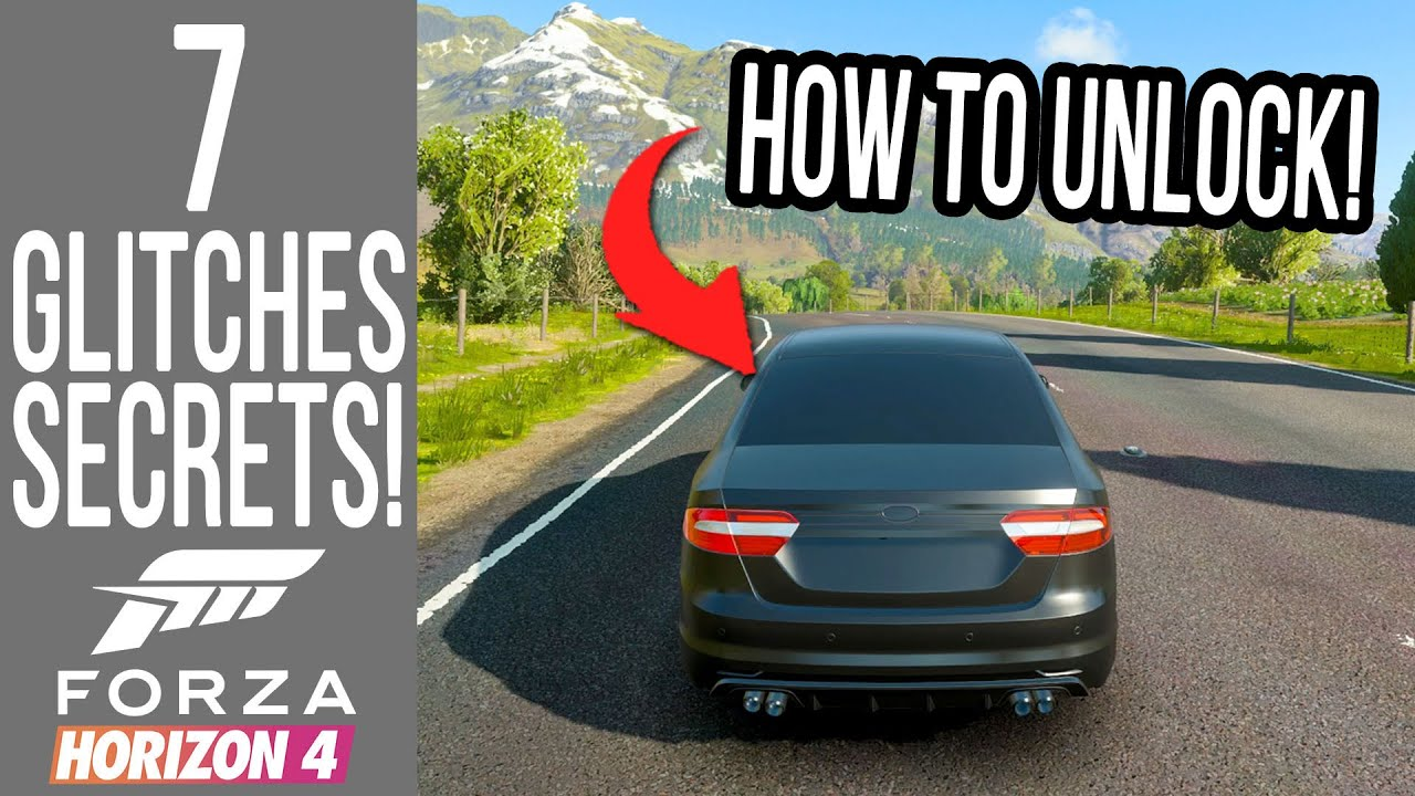 Forza Horizon 4 - 7 Secrets, Glitches & Easter Eggs! NULL CAR UNLOCKED AND PLAYABLE!
