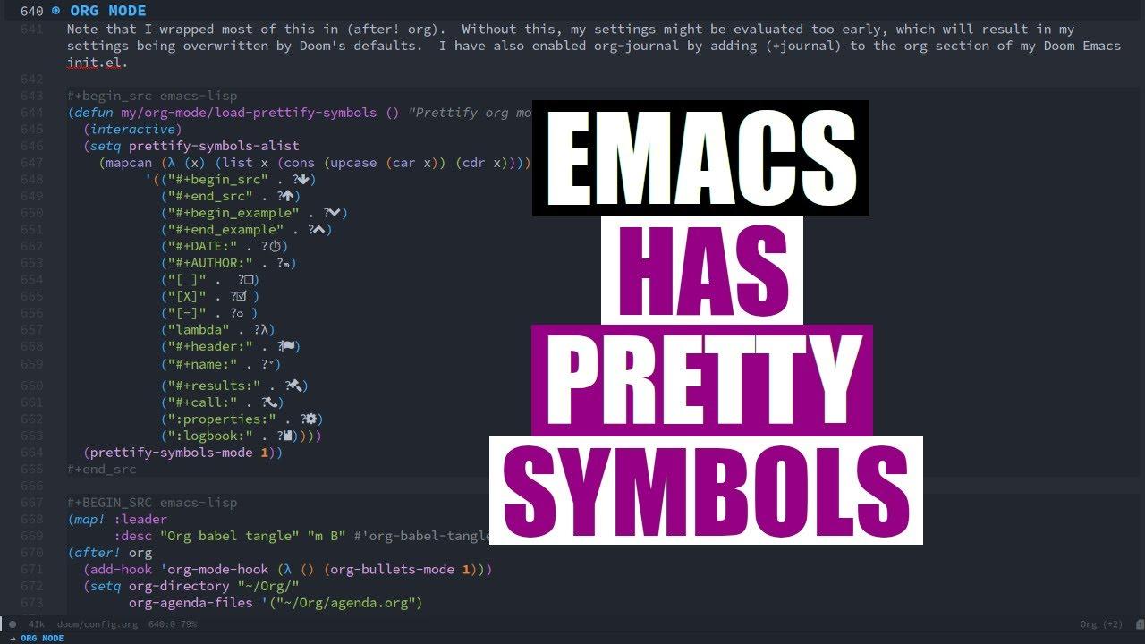 Transform Words Into Pretty Symbols In Emacs