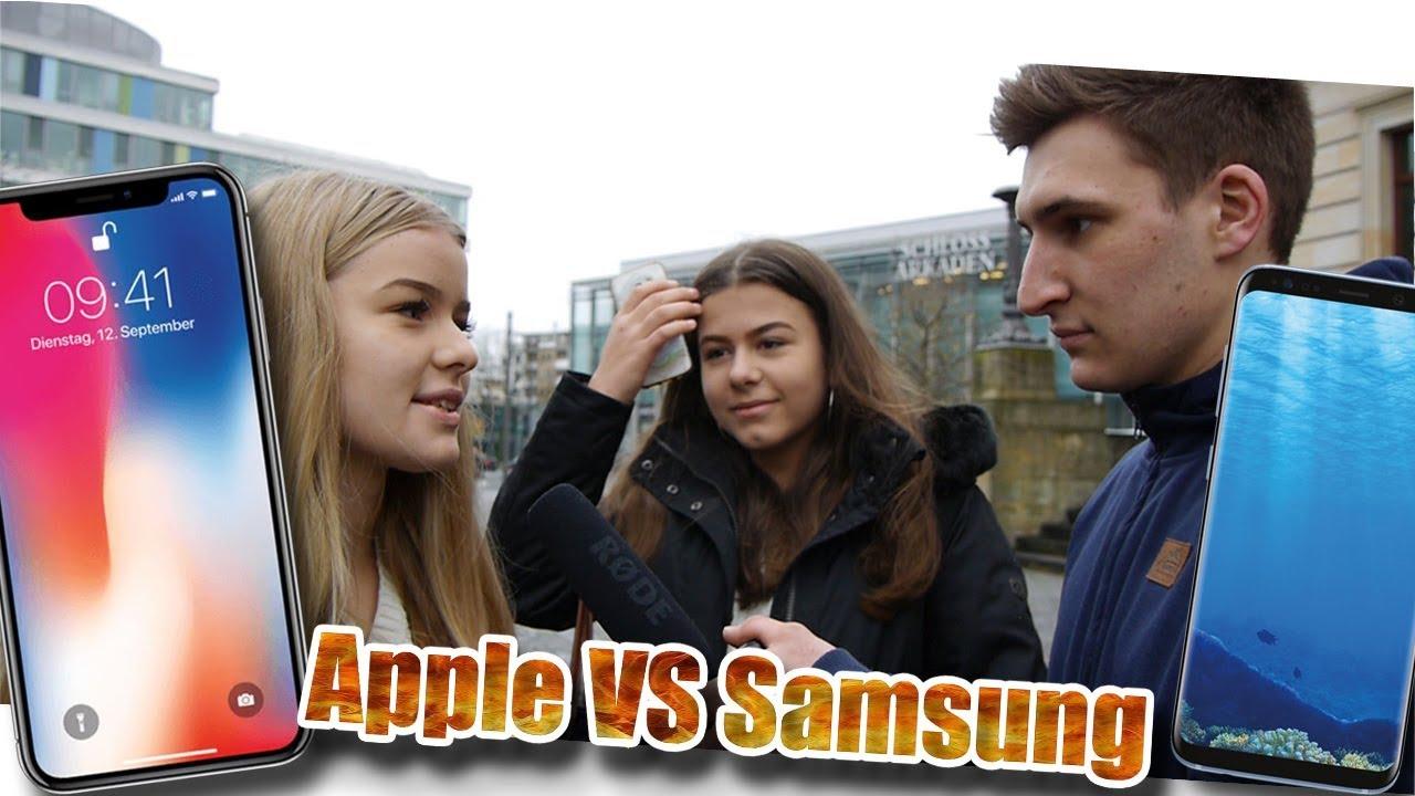APPLE VS SAMSUNG?! (STRAßENUMFRAGE)🔥🔥😱 | urgeON