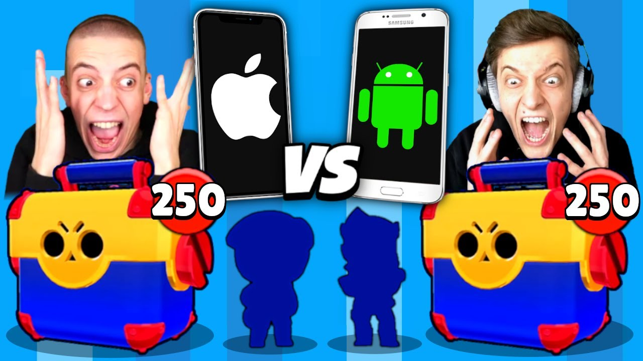 2200€ MEGA BOX OPENING BATTLE! Apple VS Android! 😱 Brawl Stars deutsch
