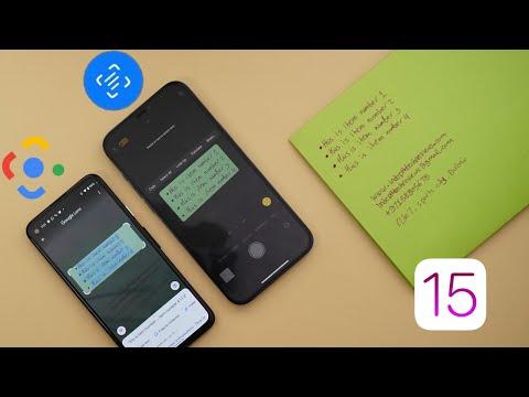 iOS 15 Live Text & Visual Lookup vs Google Lens - Not Too Bad. (iOS 15 Camera Features)