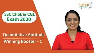 SSC CHSL Exam Refresher | TalentSprint Aptitude Prep | SSC CHSL | Competitive Exams 2020