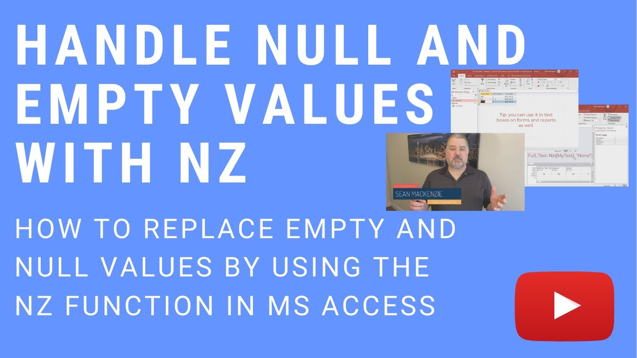 How to Use Nz in Microsoft Access to Handle Null and Empty Values
