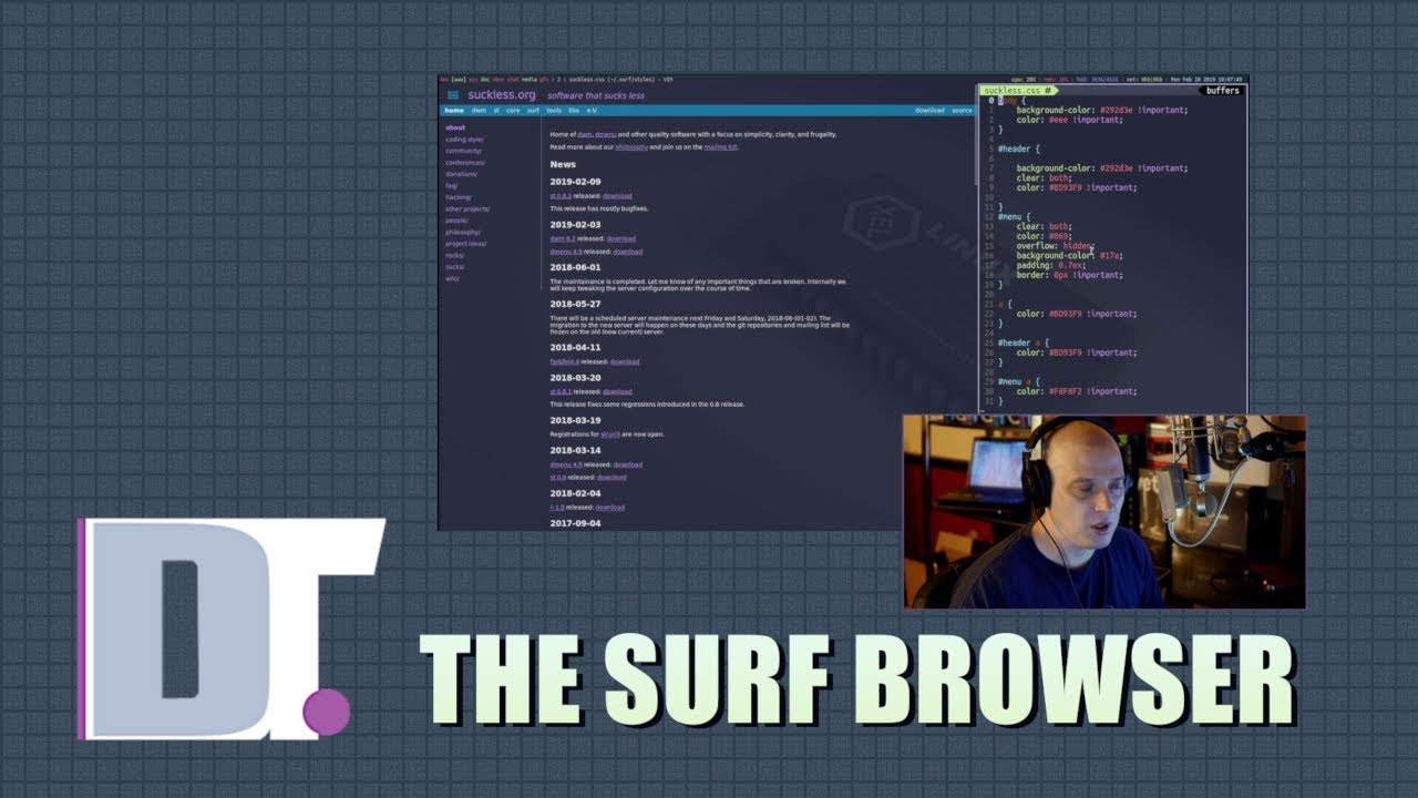 The Surf Browser - Bookmarks, Stylesheets and Tabs