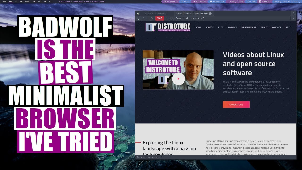 BadWolf Is A Minimal, Privacy-Oriented Web Browser