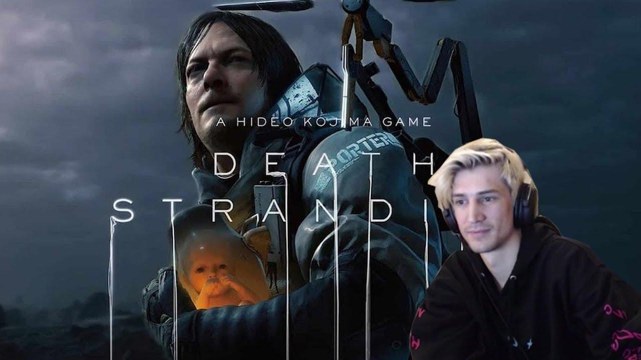 XQC REACTS to Death Stranding (dunkview)   videogamedunkey