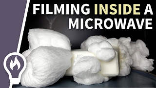 Filmed inside a microwave