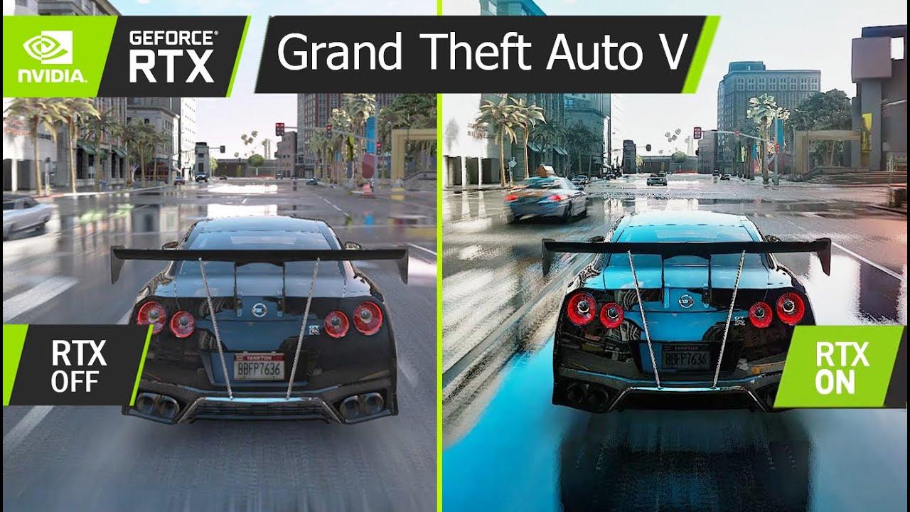 GTA V :  RAY-TRACING GRAPHIC RTX ON vs OFF (GRAPHICS COMPARISON) GEFORCE RTX™ 2080 Ti   ULTRA HD