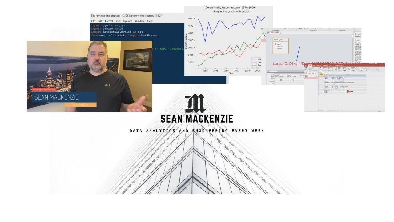 Sean MacKenzie Data Analytics and Data Engineering - Welcome to My Channel !