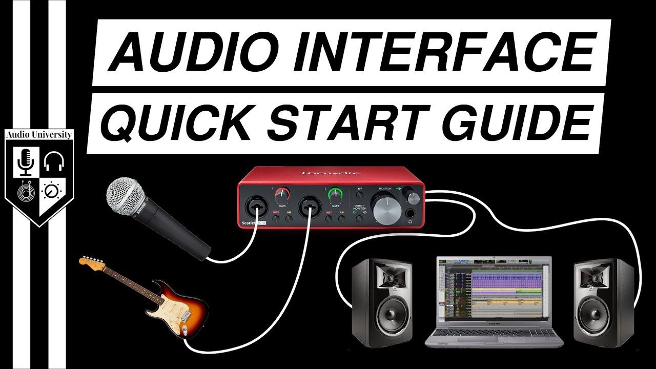BASIC AUDIO INTERFACE SETUP [with Focusrite Scarlett 2i2 3rd Gen]