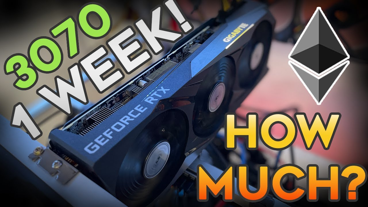 How much did our *3070* make in 1 Week mining Ethereum? Earnings are Insane right now!!!