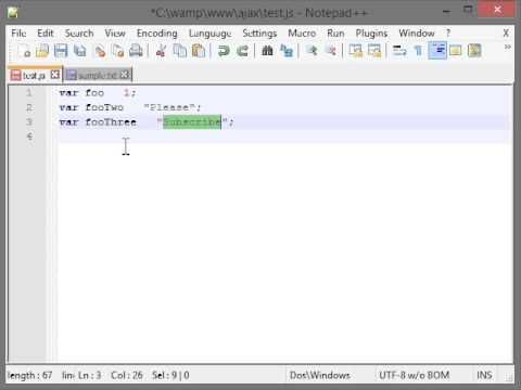 Notepad++ : Shortcuts, Tips and Tricks