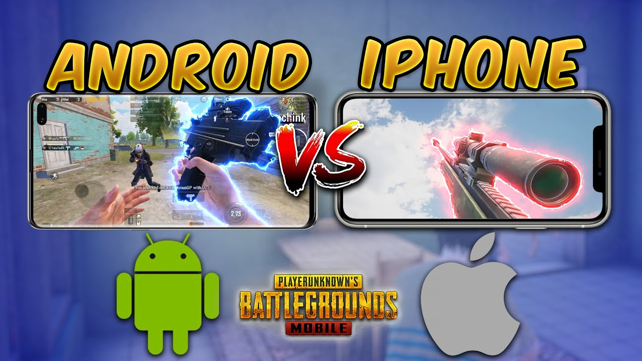 Android vs iPhone (PUBG MOBILE) iOS vs Android Comparison (Gyroscope, Aim Assist, Touch Response)