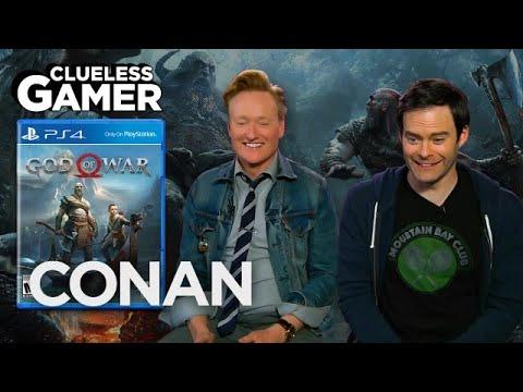 "Clueless Gamer: ""God Of War"" With Bill Hader  - CONAN on TBS"
