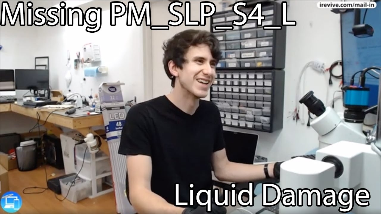 820-3437 MacBook Air A1466 Missing PM_SLP_S4_L after liquid damaged.