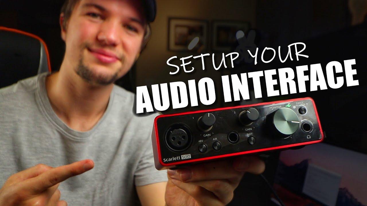 How to Setup an Audio Interface | Focusrite Scarlett Solo Setup | Audio Interface Setup 2021