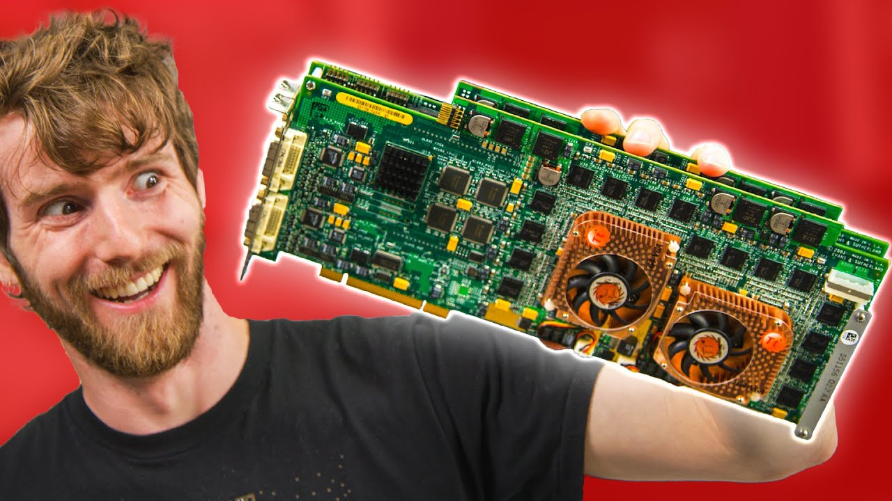 This MONSTER Video Card has 4 GPUs... and it's from 2004!