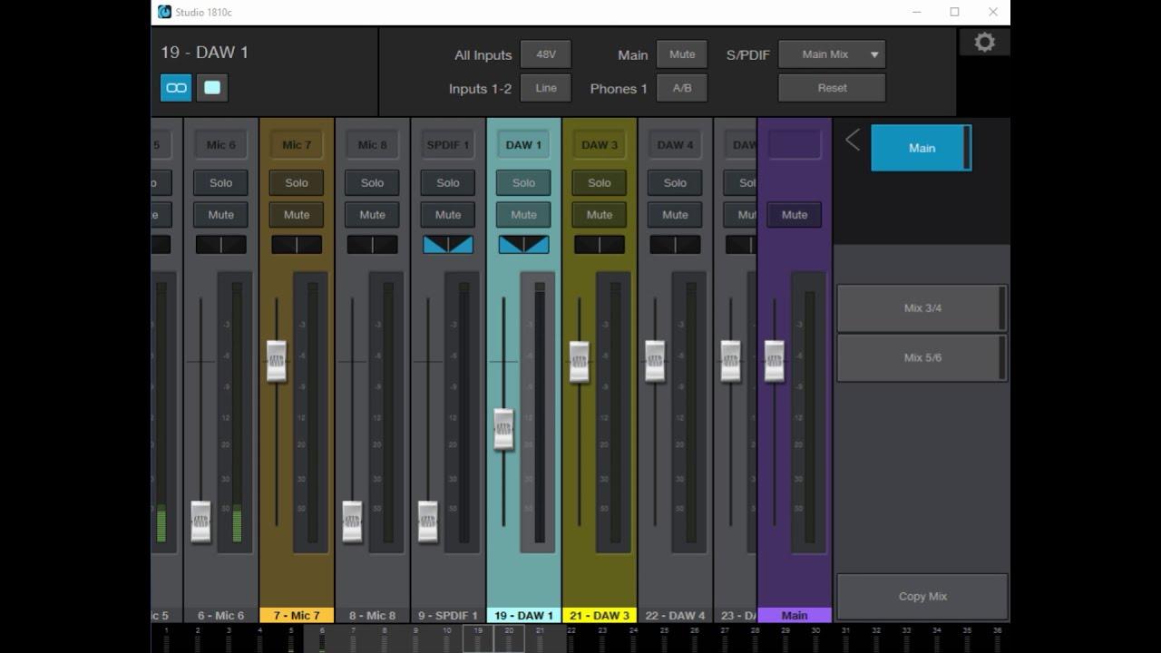 Presonus Studio 1810c Setup/ Tutorial using Universal Control