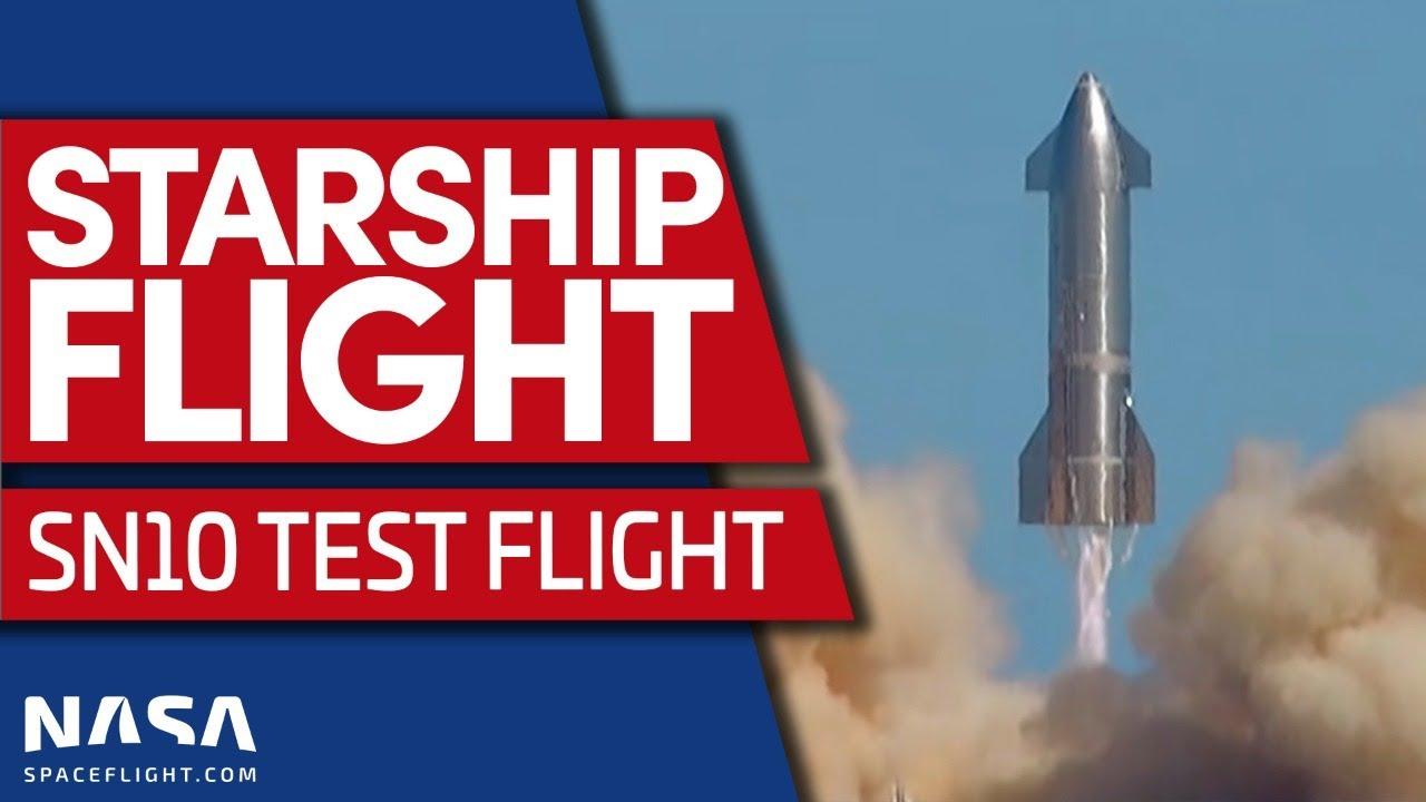 Full Replay: Starship SN10 Flight Test, Landing, and Post-Flight BOOM!