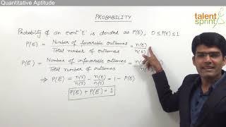 Probability | Quantitative Aptitude | TalentSprint Aptitude Prep | IBPS | SBI | SSC CGL | SSC CHSL | Railways | Insurance Exams | Competitive Exams 20