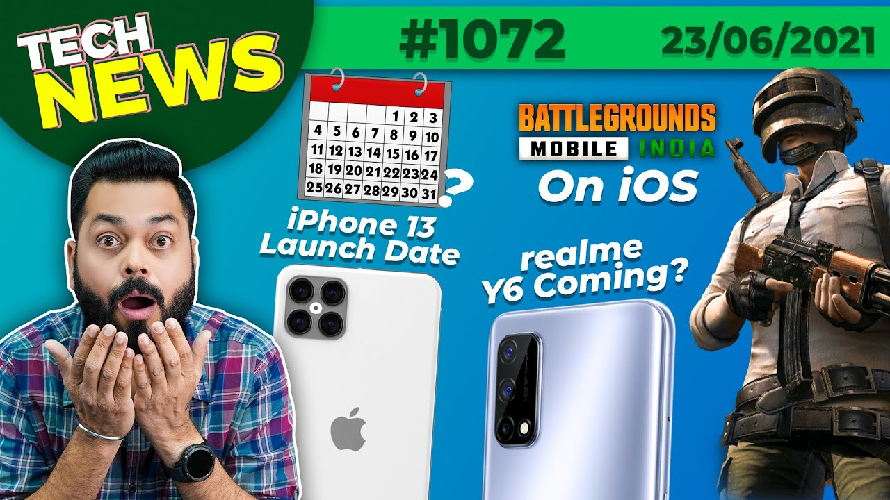 BGMI Coming On iOS, realme Y6 Coming, iPhone 13 Launch Date,MIUI 13 First Look,iQOO 3 Price-#TTN1072