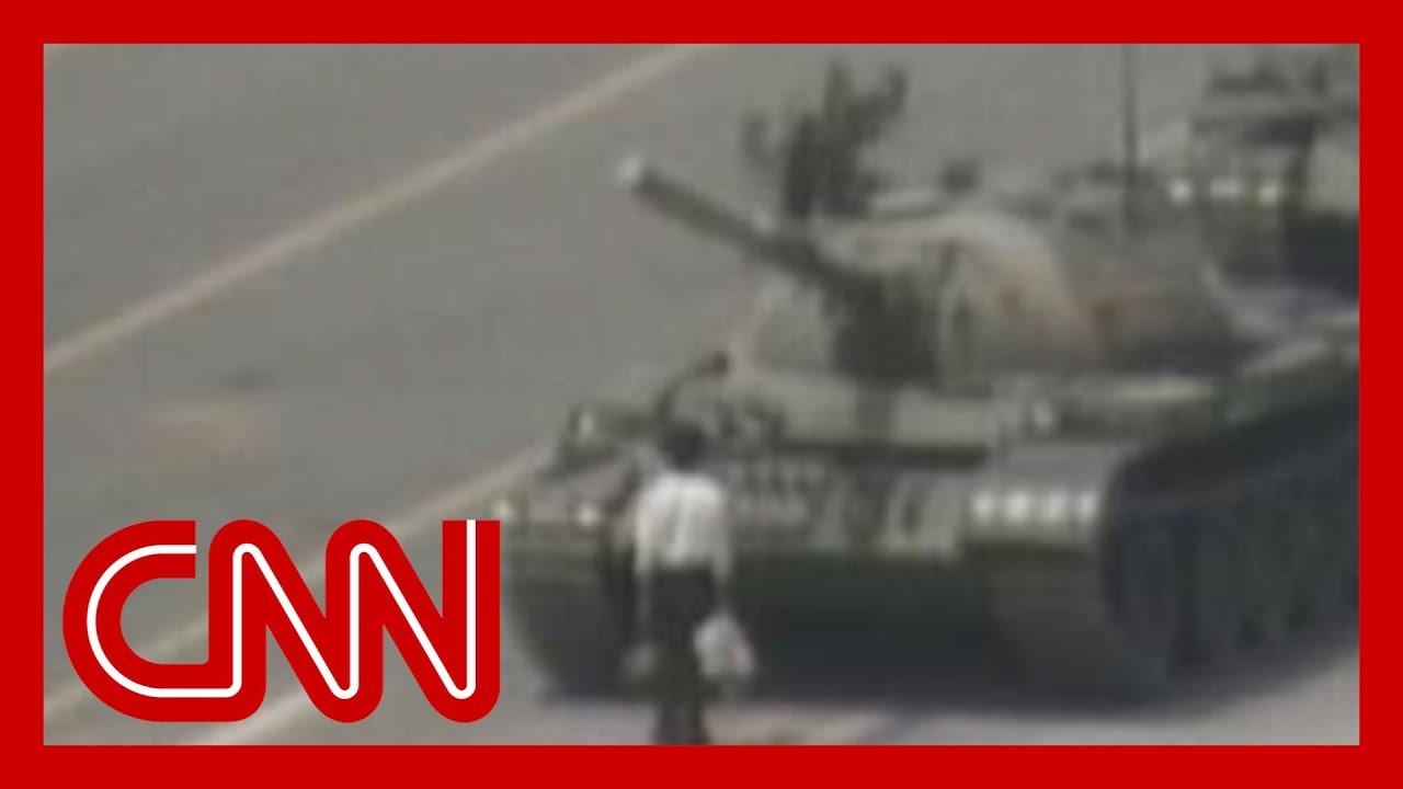 Man vs. Chinese tank Tiananmen square -  June 5, 1989