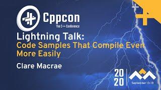 CppCon 2020 Lightning Talks