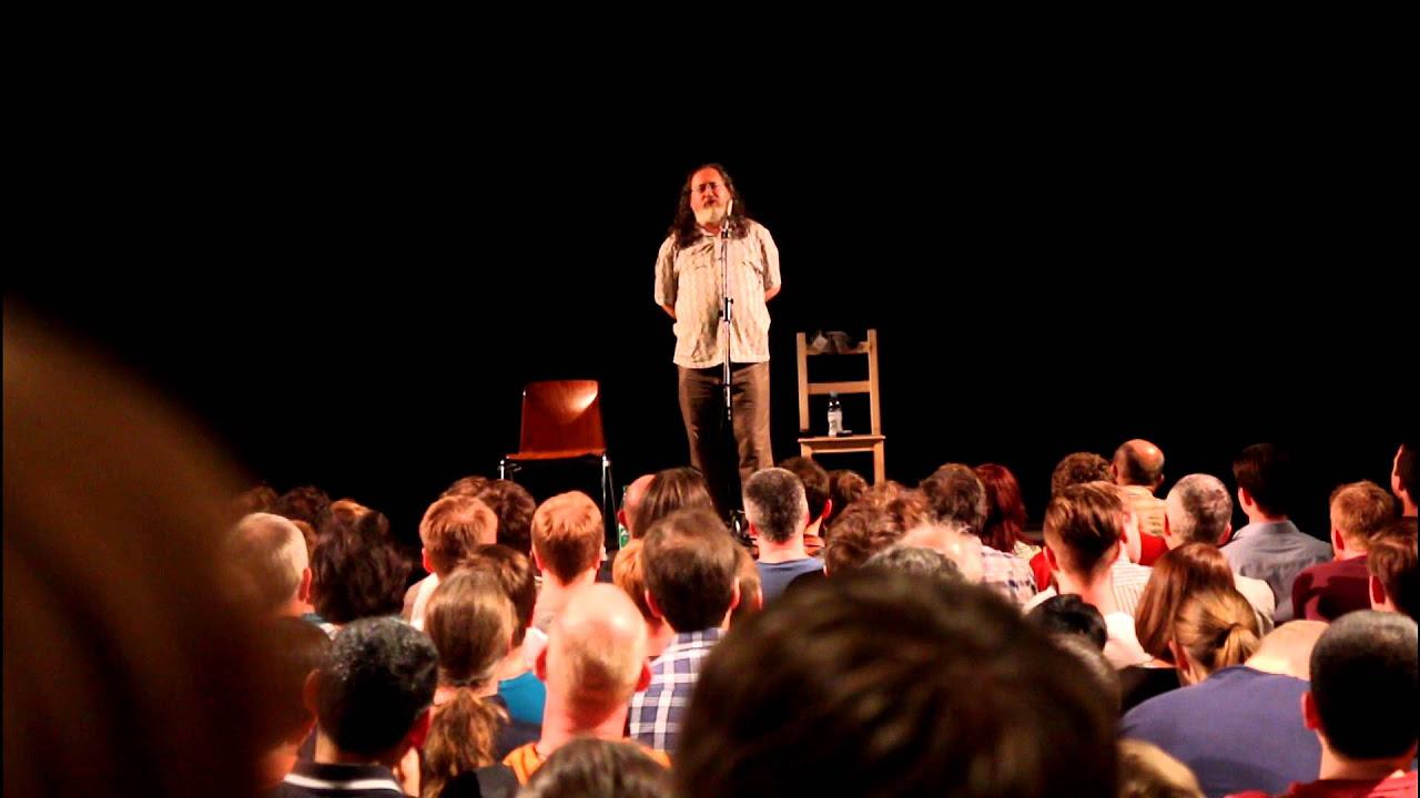 Richard Stallman: GNU, Linux & Linus Torvalds (in Frankfurt, Germany)