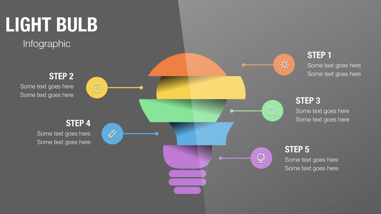 #040 Apple Keynote Tutorial: Design & Animation Light Bulb Infographics in Keynote Magic Move 2019