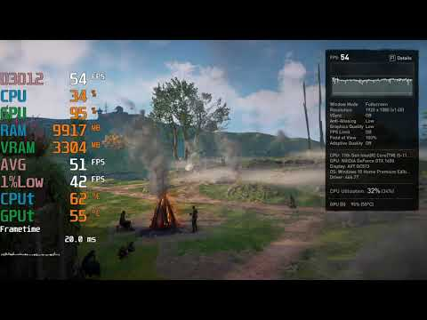 GeForce GTX 1650 -- Intel Core i5-11400 -- Assassin's Creed AC Valhalla FPS Test i5-11400F