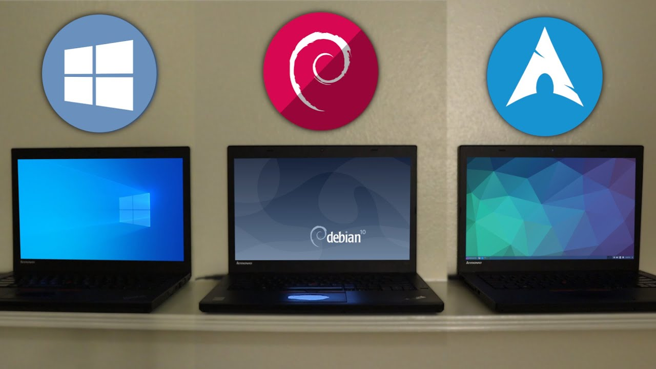 Windows 10 vs Debian vs Arch Linux (EndeavourOS) - Speed Test!