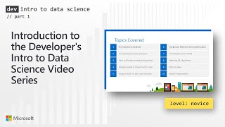 Dev Intro to Data Science