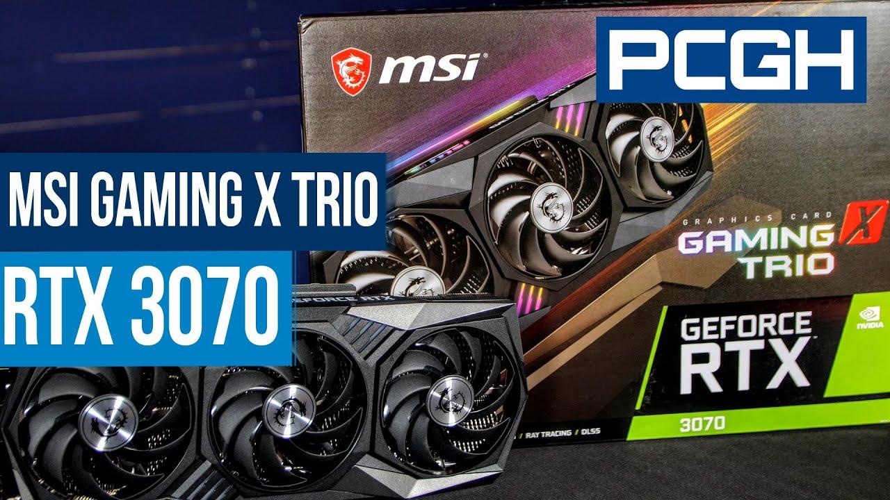 MSI Geforce RTX 3070 Gaming X Trio | Leistung, Lautstärke, Temperaturen und Overclocking