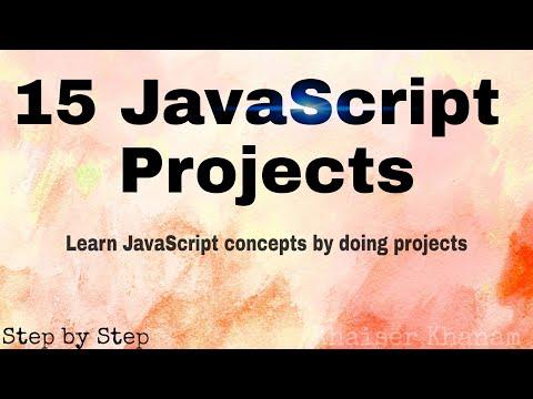 15 JavaScript Projects...