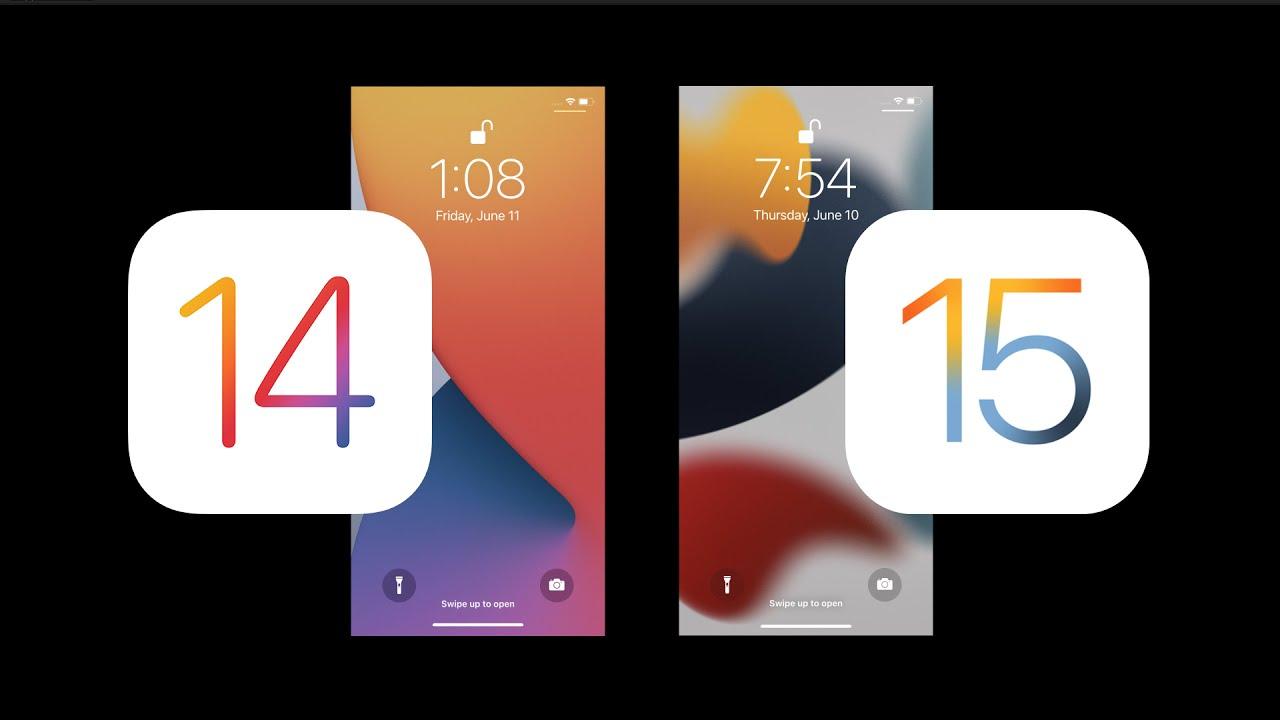 iOS 15 VS iOS 14 Design change