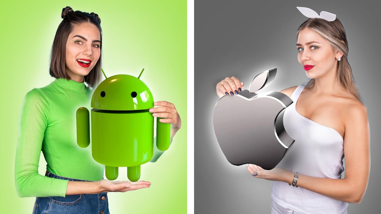 iOS vs ANDROID / If Objects Were People!