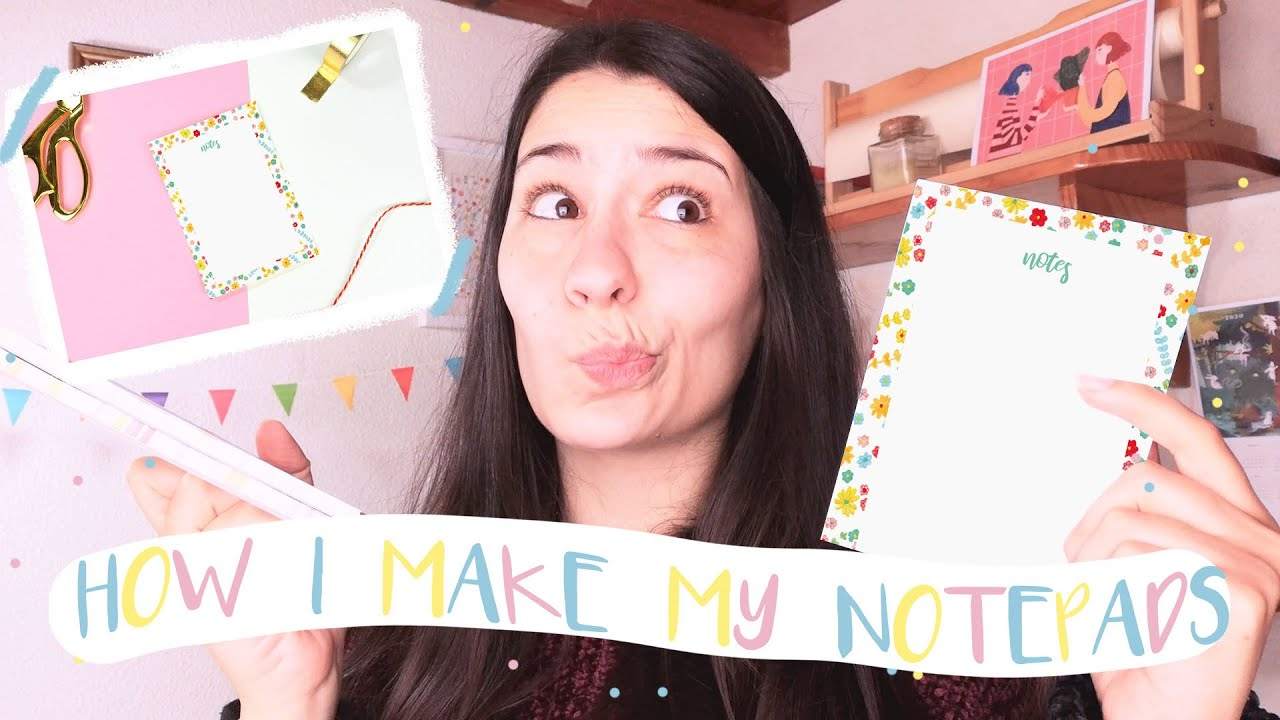 HOW I MAKE NOTEPADS! // How I mount my notepads to sell on Etsy