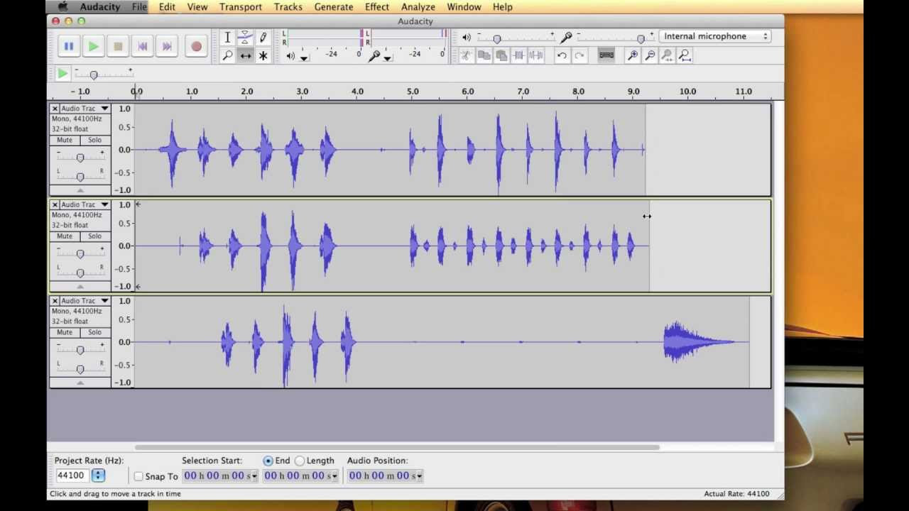 Audacity Tutorial Multitrack Recording How to Keep Tracks in Sync