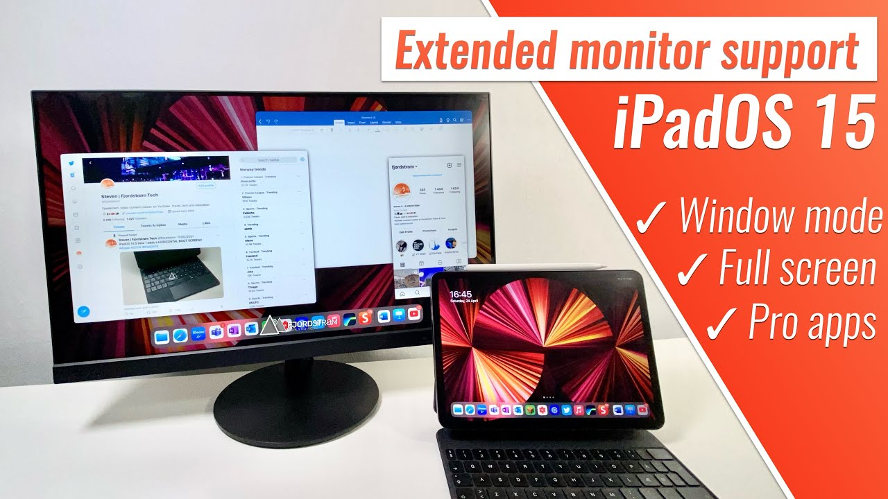 iPadOS 15 external monitor support: this is how it could work!