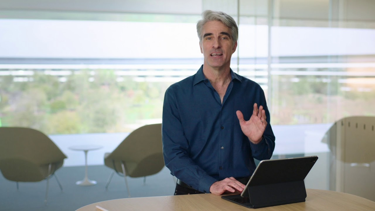 iPad Pro Cursor with Craig Federighi