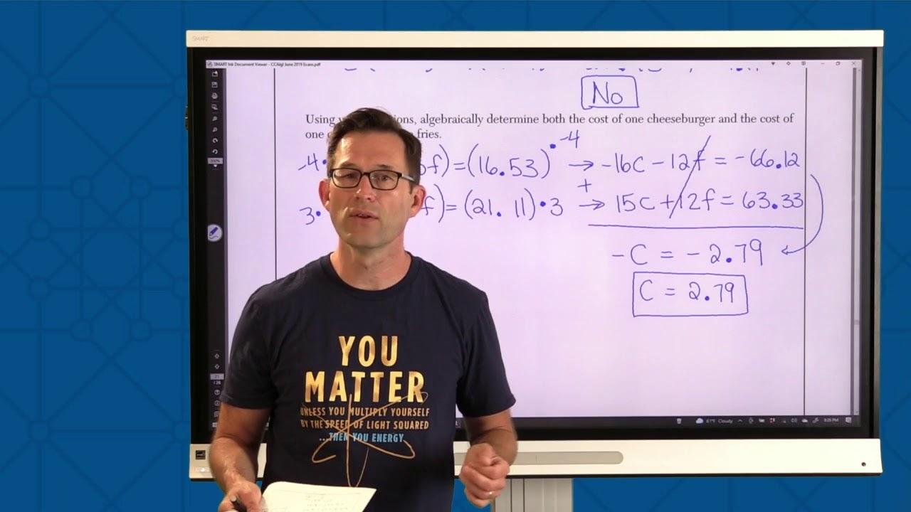 Algebra I Regents Live Review 2021