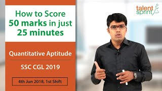 SSC CGL Refresher 2020 | Tier 1 Exam Preparation | TalentSprint Aptitude Prep