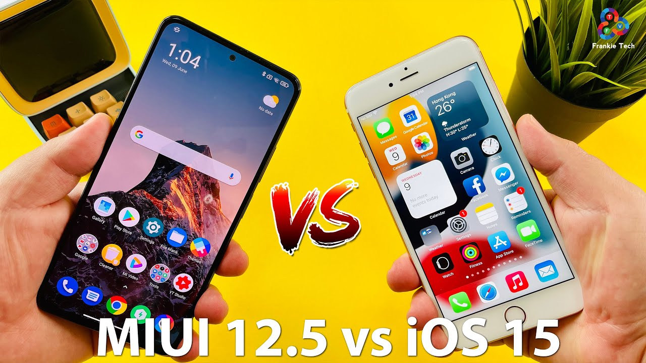 MIUI 12.5 vs iOS 15 MORE IN COMMON? (Featuring POCO F3!)